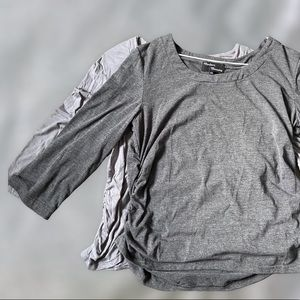 3/4 Sleeve Ruched Maternity Shirts